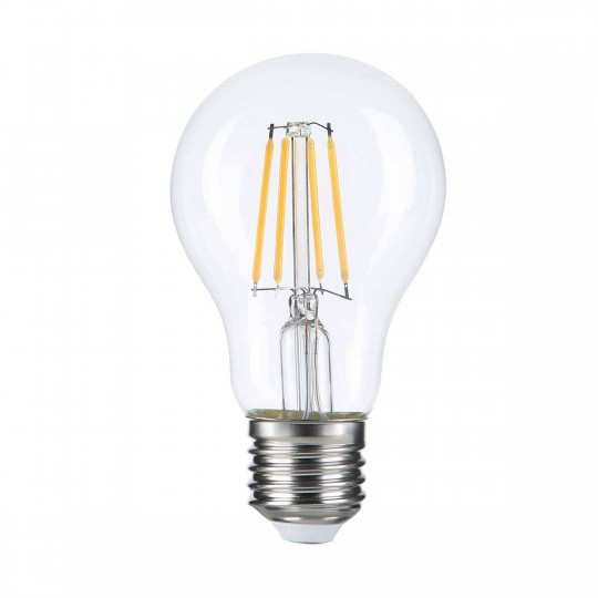 Ampoule LED E27 A60 filament E27 8W (eq. 60 watts) - Blanc du Jour 6000K