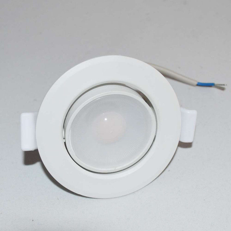 Spot LED encastrable orientable blanc LED 8W (60W) compact