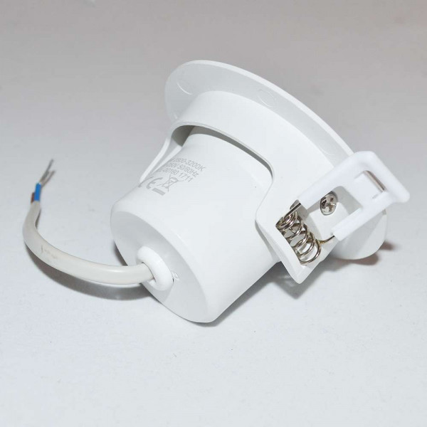 Spot LED encastrable orientable blanc LED 8W (60W) compact