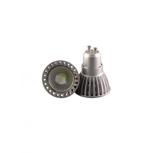 Kit Spot LED GU10 étanche 4W carré aluminium lumière 35W blanc chaud 2800K