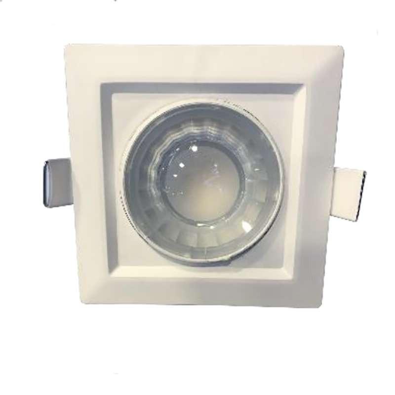 Spot LED carré encastrable orientable blanc LED 8W (60W) compact