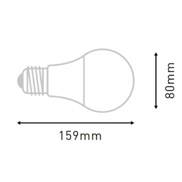 Ampoule LED E27 18W éclairage 150W