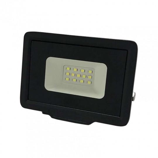 Projecteur LED 10W (50W) Noir Étanche IP65 800lm - Blanc du Jour 6000K