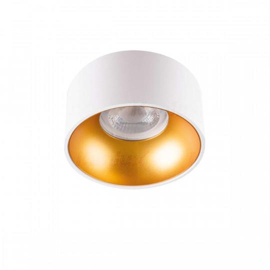 Support de Spot Encastrable Rond Mini RITI GU10 Blanc et Or