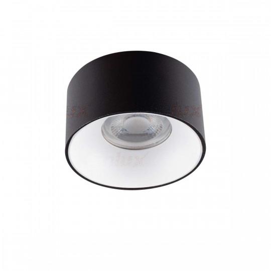 Support de Spot Encastrable Rond Mini RITI GU10 Noir et Blanc