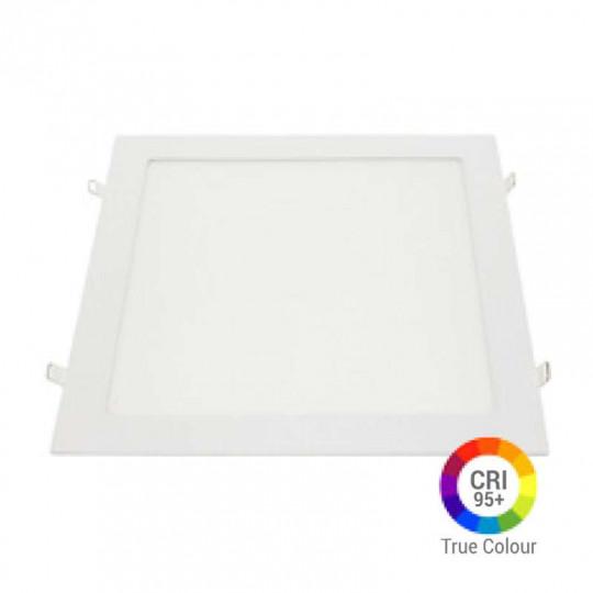 Plafonnier LED Carré 24W Extra Plat Encastrable IRC95 - Blanc du Jour 6000K