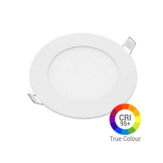 Plafonnier LED Rond 6W Extra Plat Encastrable IRC95 - Blanc Naturel 4200K