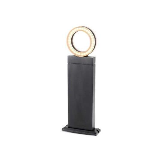 Potelet Rectangulaire 12W LED 50cm Diffuseur Rond IP54 - Blanc Naturel 4000K