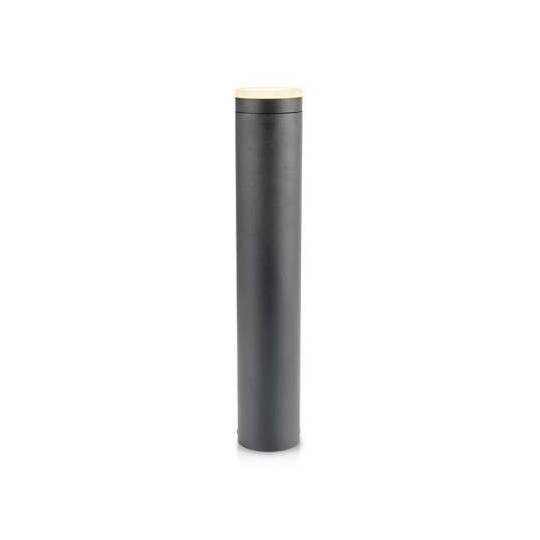Potelet Cylindrique 10W LED 50cm Gris Anthracite IP54 - Blanc Naturel 4000K