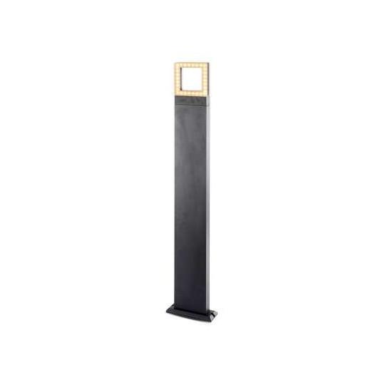 Potelet Rectangulaire LED 12W 100cm Diffuseur Carré IP54 - Blanc Naturel 4000K
