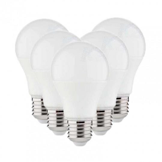 Lot de 5 Ampoules LED A60 SMD 10W E27 Blanc Neutre 4000K