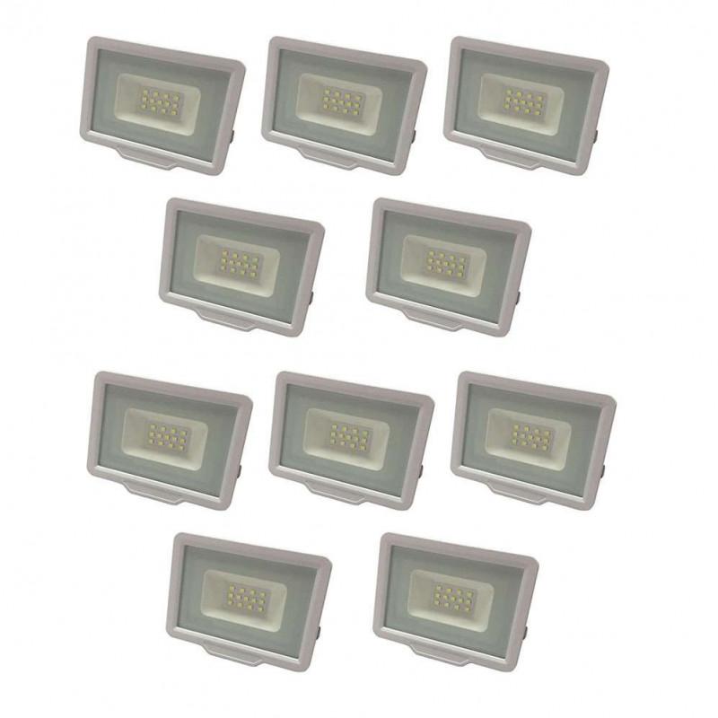 Lot de 10 Projecteurs LED 10W (50W)...