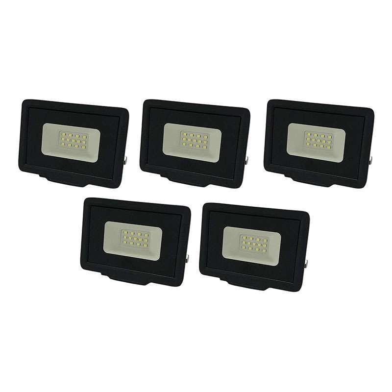 Lot de 5 Projecteurs LED 10W (50W)...