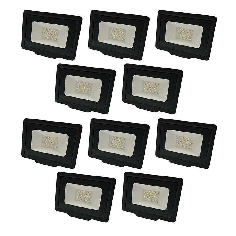 Lot de 10 Projecteurs LED 50W (250W)...