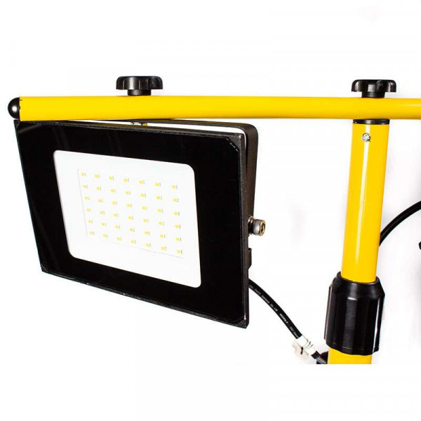 2 Projecteurs LED 30W de Chantier sur Trépied Blanc Naturel 4000K