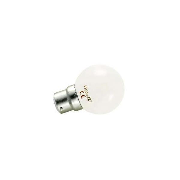 Ampoule LED B22 1W Équivalent 9W G45 - Blanc du Jour 6000K