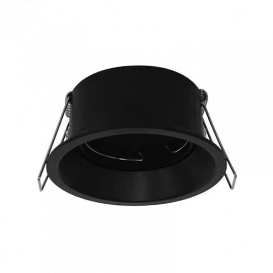 Support de Spot Encastrable Rond Basse Luminance Ø85mm Noir