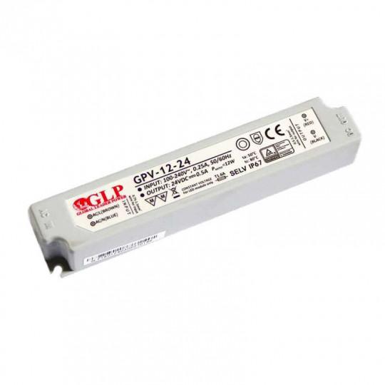 Alimentation LED DC 12V 12W Étanche GLP IP67
