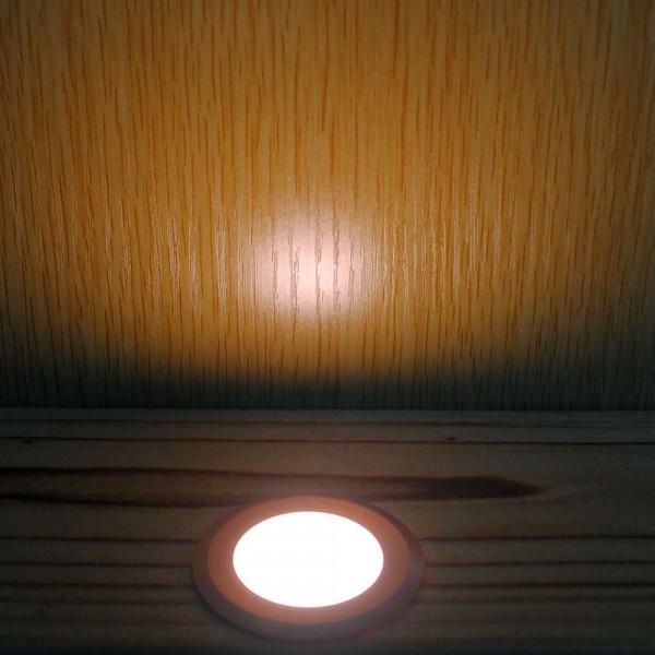 Petit Spot Encastable 1,5W LED tour marron étanche IP67
