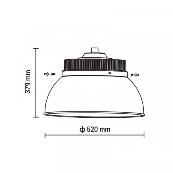 Highbay LED éclairage industriel 200W