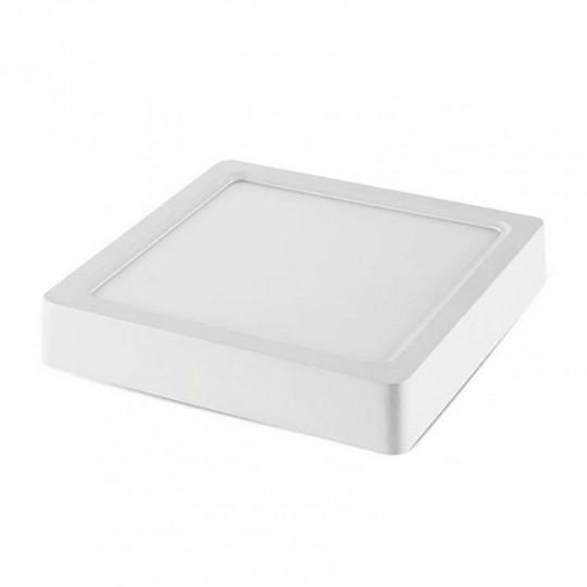 Plafonnier LED en Saillie 6W (50W) Blanc 120x120mm - Blanc Chaud 2800K