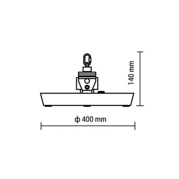 Cloche Highbay LED 100W 10000lm LED OSRAM 90° HB8140