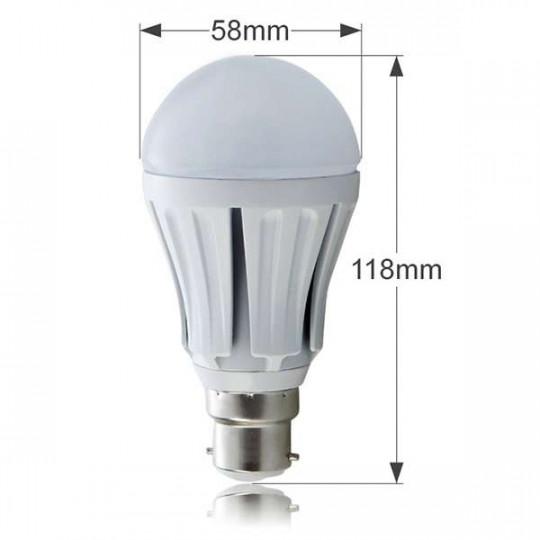 Ampoule LED B22 10W 850lm Ronde A60 Blanc Chaud 2700K