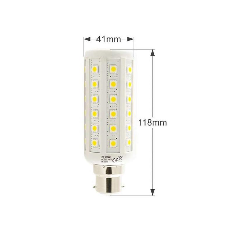 Ampoule LED B22 7W Epi (équivalent 75W) Blanc Chaud (2700K)