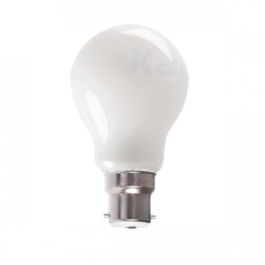 Ampoule LED B22 7W A60 équivalent à 60W - Blanc Chaud 2700K