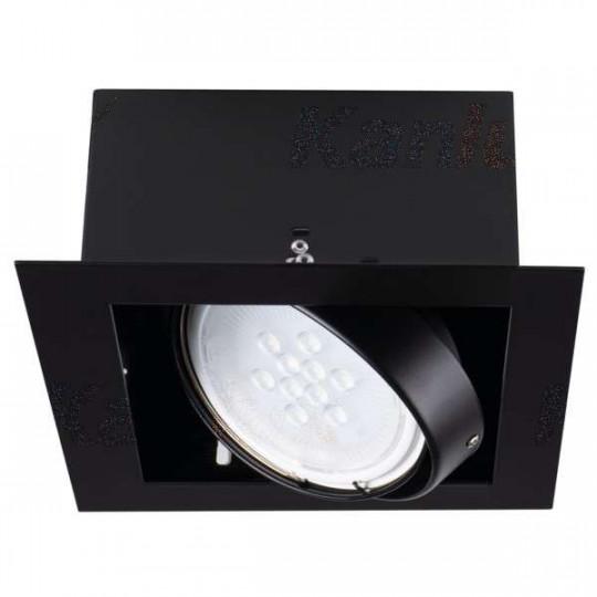 Luminaire à Culot GU10 carré Noir