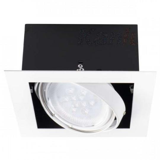 Luminaire à Culot GU10 carré Blanc