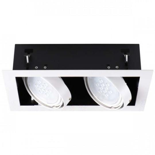 Luminaire à Culot GU10 Rectangulaire Blanc