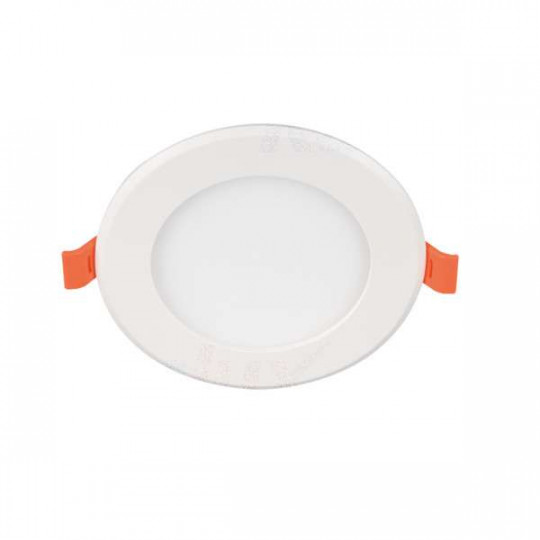 Downlight LED 6W rond ∅121 Blanc - Blanc Chaud 3000K