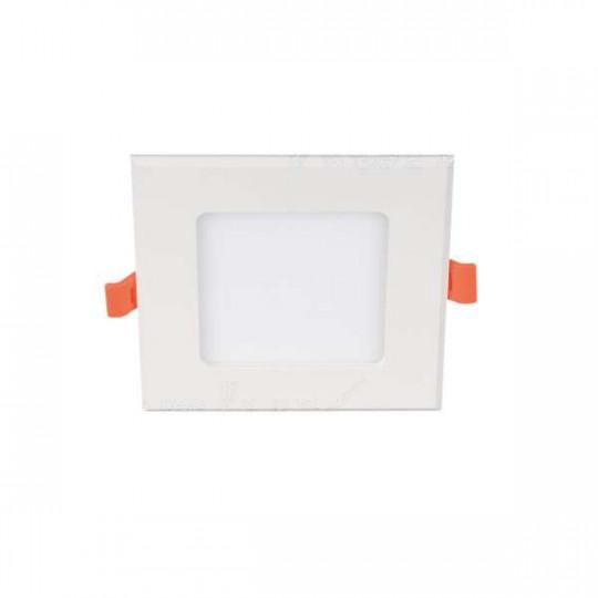 Downlight LED 6W carré Blanc - Blanc Naturel 4000K