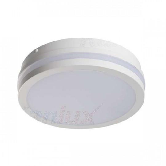 Plafonnier LED 18W étanche IP54 rond ∅220mm Blanc - Blanc Chaud 3000K