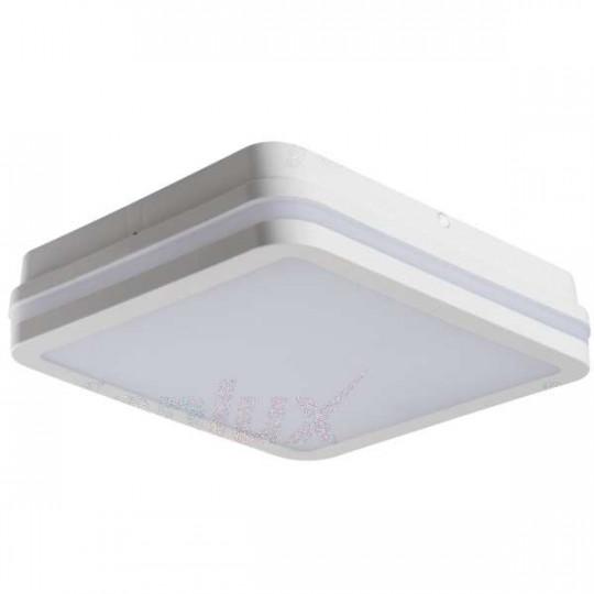 Plafonnier LED 24W étanche IP54 carré côté 260mm Blanc - Blanc Chaud 3000K