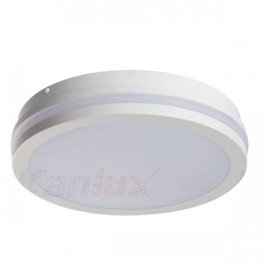 Plafonnier LED 24W étanche IP54 rond ∅260mm Blanc - Blanc Chaud 3000K