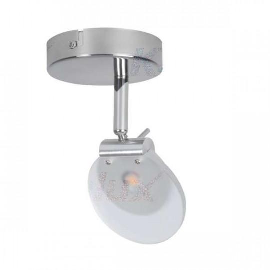 Luminaire LED 6W Chrome - Blanc Chaud 3000K