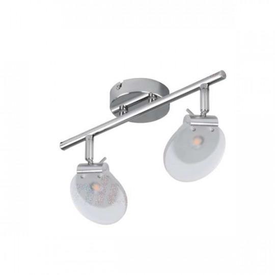 Luminaire LED 2 x 6W Chrome - Blanc Chaud 3000K