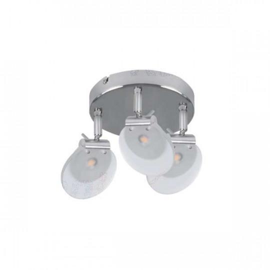 Luminaire LED 3 x 6W Chrome - Blanc Chaud 3000K