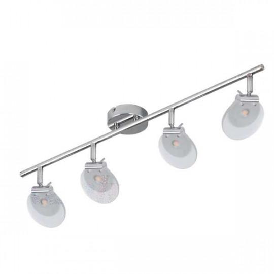 Luminaire LED 4 x 6W Chrome - Blanc Chaud 3000K
