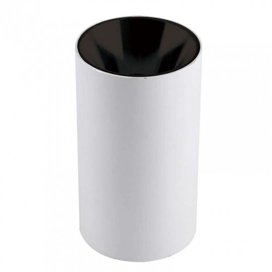 Plafonnier en Saillie Rond GU10/MR16 Blanc Réflecteur Noir