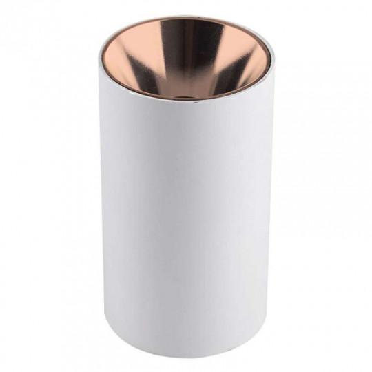 Plafonnier en Saillie Rond GU10/MR16 Blanc Réflecteur Or Rose