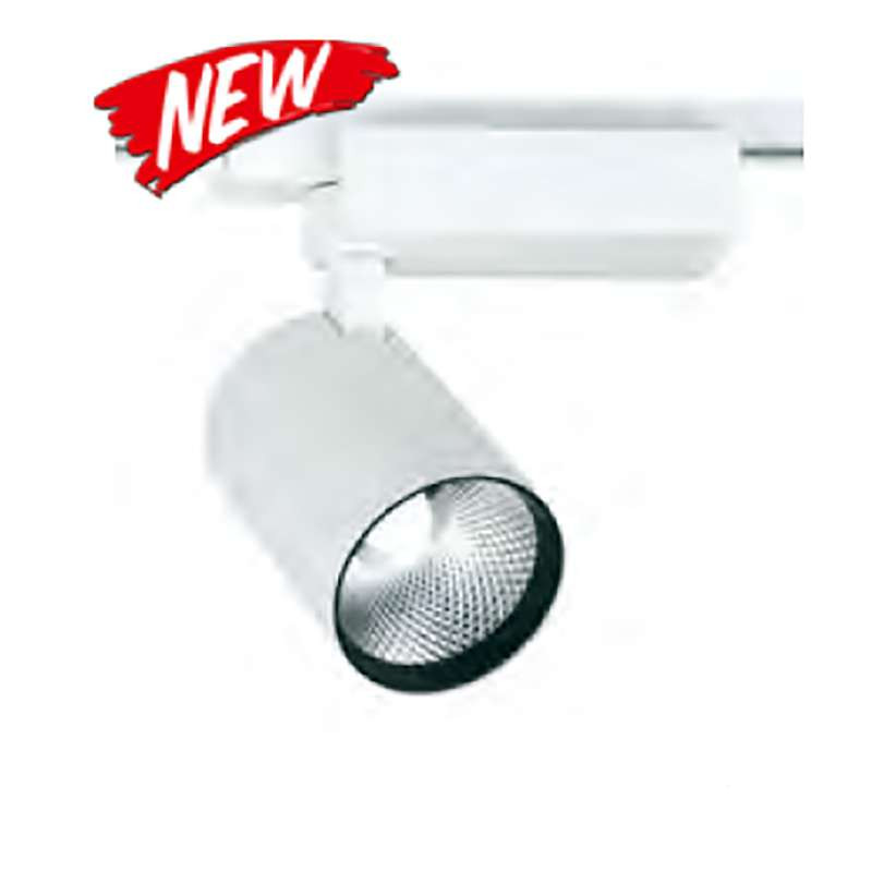 Spot LED Rail 25W COB Blanc 24° 2750 lumens triphasé