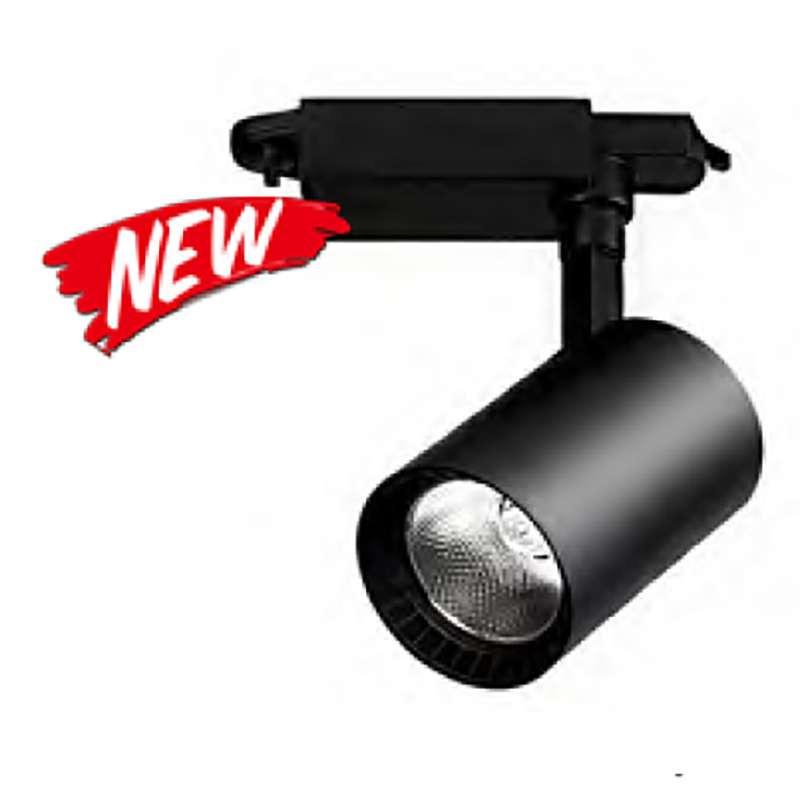 Spot LED sur Rail 35W COB Noir 24° 3850 lumens