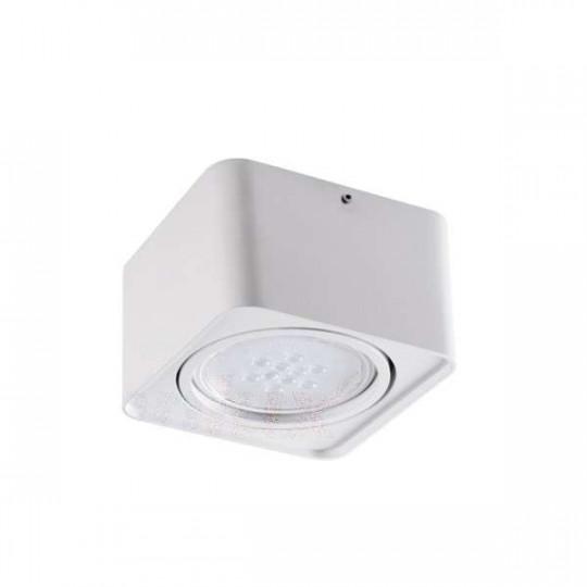 Plafonnier Saillie carré pour 1 ampoule GU10 Blanc
