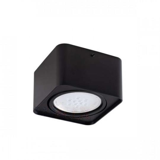 Plafonnier Saillie carré pour 1 ampoule GU10 Noir