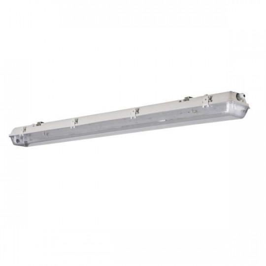Support étanche IP65 pour 2 tubes T8 longueur 1270mm Gris