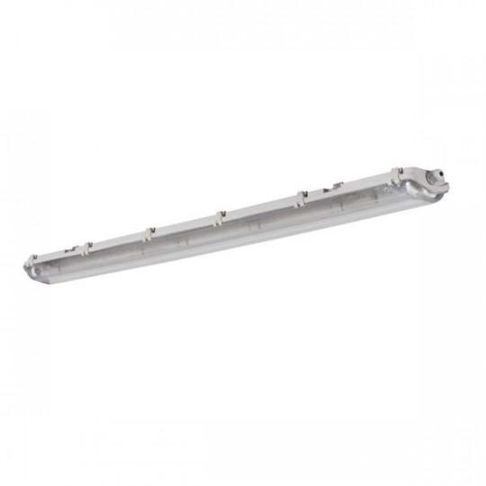 Support étanche IP65 pour 2 tubes T8 longueur 1265mm Gris