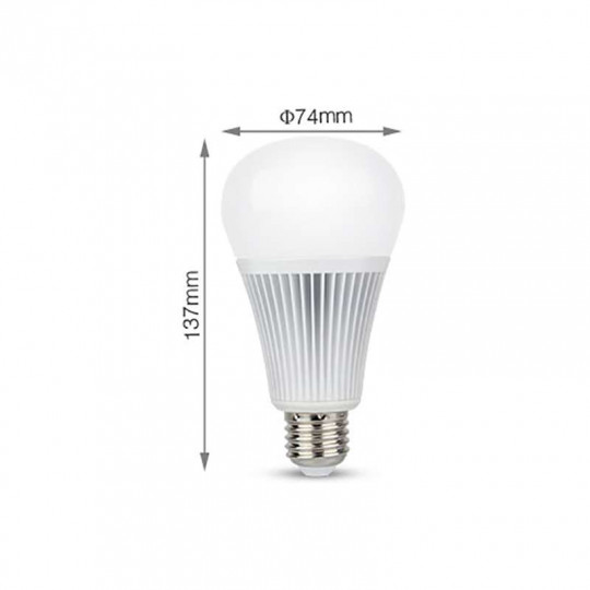 Ampoule LED E27 RGB +CCT 9W pilotable éclairage 75W